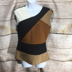 Worthington elegant shirt tri block color small